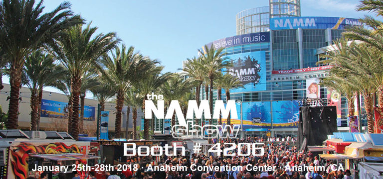 The Namm show 2018 :: January 25th – 28th :: Anaheim CA